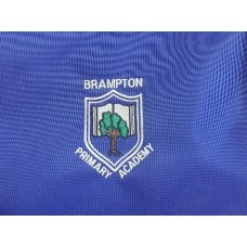 Brampton Primary PE Bag royal with logo