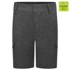 CARGO SHORTS GREY SLIM FIT
