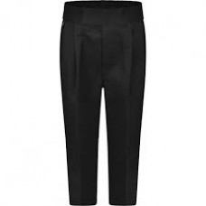 Stocky Fit Black Trouser