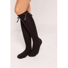 Black Knee High Bow Socks (3 for £8)