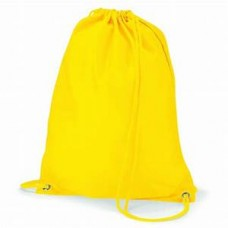 Burnt Oak PE bag with school logo YELLOW