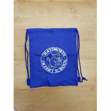Chatsworth PE Bag Royal with logo