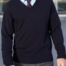 Plain Navy V-Neck Jumper