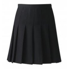 Black Knife Pleat Skirt (SAS)