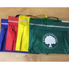Burnt Oak Blue Book Bag with school logo