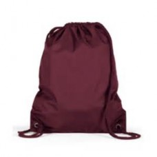 Holy Trinity PE Bag Maroon with logo